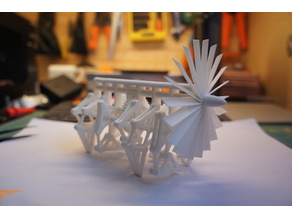 3D printable Strandbeest (with PVA support) (用水溶性支撑可打印的风力兽)