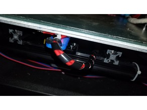 Tronxy X3S bed cable relief