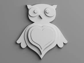Owl keychain for my wife