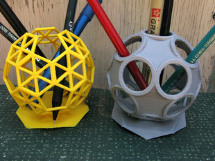 More Icosahedral Pencil Holders