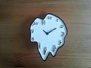 Dali like melting clock face plate