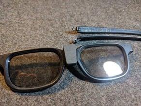 Real D 3d glasses clip v2 (Adjustable)
