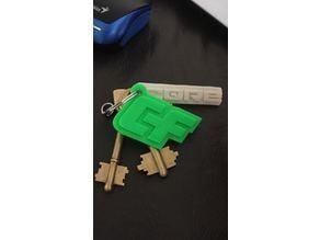 Crazy fly keychain