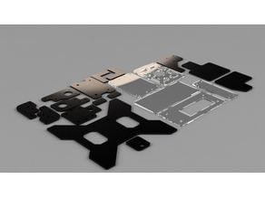 Tevo Tarantula stock acrylic parts / OEM brackets - all of them
