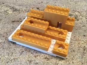 LEGO compatible Marble Run for 11mm Pachinko Balls - Troughs