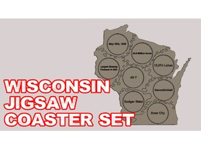 Wisconsin Coaster Set