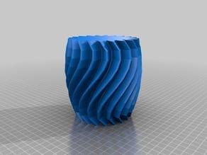 Twisty Vase or Pencil Cup