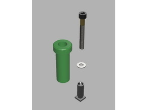 Adaptor for Mini Quick Change Toolpost for Sherline Lathe