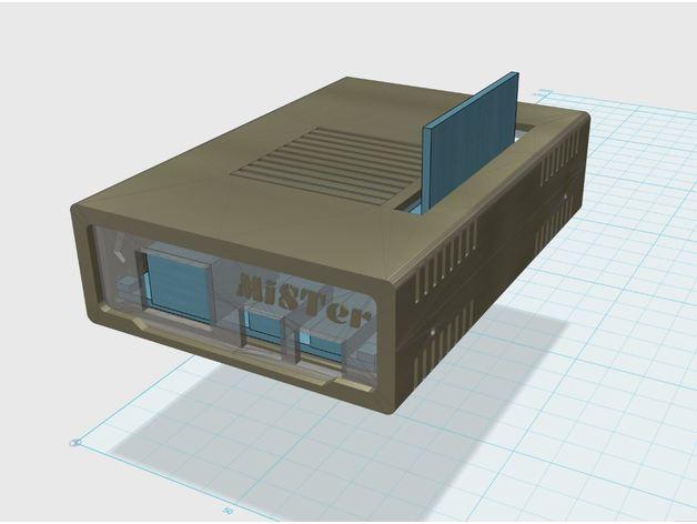 MiSTer - Case Slim v1 0 (vertical SDRAM mount only) by