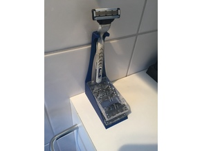 Shaving / Razor stand with blade depot for Gillette Mach3