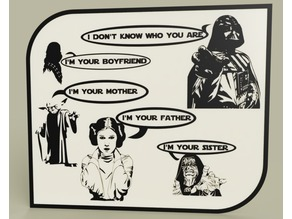 StarWars - Darth Vader - Chewbacca - Yoda - Leia - Emperor- Luke nightmare