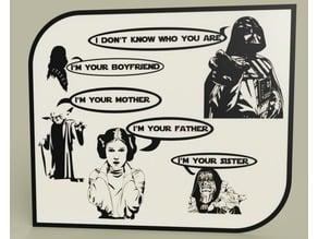StarWars - Darth Vader - Chewbacca - Yoda - Leia - Emperor- Luke nightmare