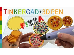 Miniature Pizza with Tinkercad + 3D pen