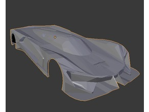 Low-Poly SRT Tomahawk Vision Gran Turismo Body in 1:28 Scale (Deprecated)