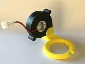 Nozzle fan with snapfit for 50mm blower fan.