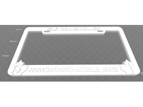 Zap Rowsdower - Rowsdower-Mobile Away, License Plate Frame, MST3K