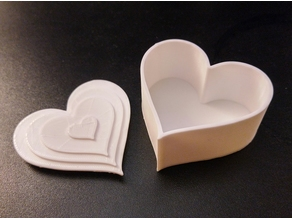 Heart Box Container with Lid