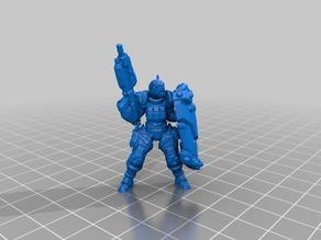 """Crusader Enforcer"" Scifi RPG Miniature"