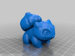 High-Poly hollowed Bulbasaur for DLP/SLA