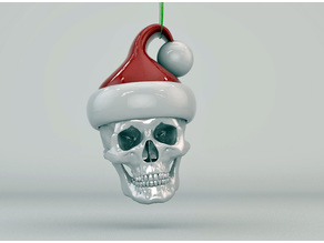 Merry Christmas Santa Skull Ornament