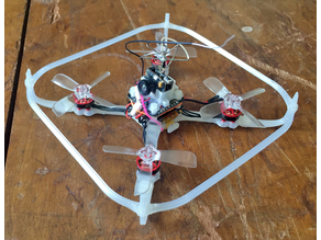 Barricade V2 - Light Quadcopter for 56mm Props - Prop Guards.