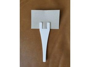 Card holder, cake topper, buffet label, plant tag, label holder