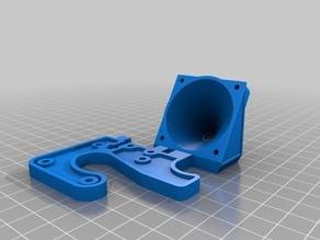 Printrbot Jr. V2 40mm side fan mount and duct
