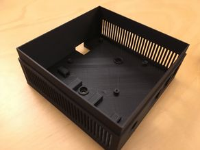 raspberry pi case with support for 80mm fan and stepdown psu