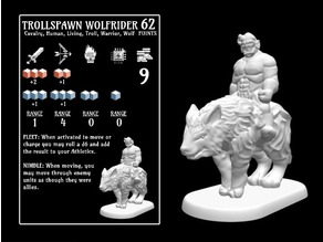 Trollspawn Wolf Rider (18mm scale)
