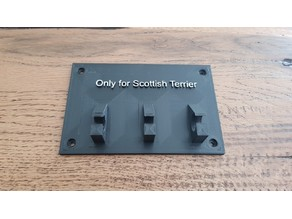 Scottish Terrier lesh holder