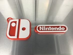 Dual/Multi Material Nintendo and Switch Logo Keychains