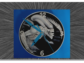Alien Reloj 3D