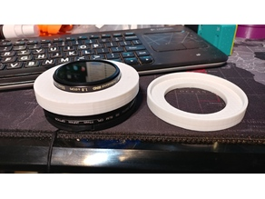 52mm to 77mm Filter Friction Adapter