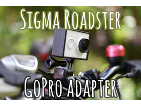 GoPro adapter for Sigma Roadster bike light mount