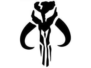 """Mandalorian Clan Symbol """"3D Wall Art"""""""