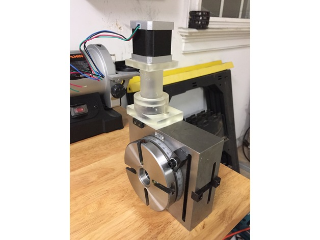 Rotary Table Stepper Motor Adapter By W3woody Thingiverse