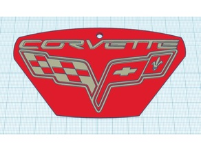 Corvette keychain or scale up for Wall art