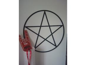 Pentagram on the wall