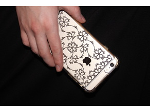 Tatted Lace iPhone Plus Back Skin