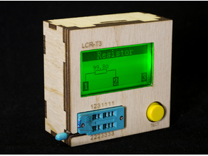 Plywood Case for LCR-T3 component tester Lasercut