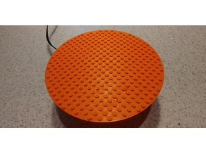 Parametric circular LEGO-compatible plate