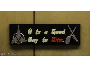 It Is A Good Day To Dine: Klingon Kitchen Decor