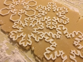 Customizable Snowflake Cookie Cutters