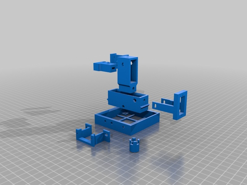 Parametric 3 axis manipulator - optional servo mounts* by BadenLab