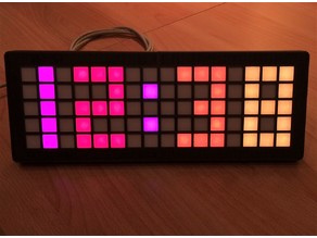 Grid for LED strips w/ clock example