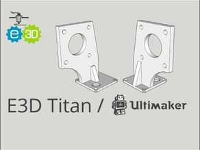 E3D Titan / Ultimaker 2 mount