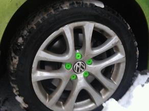 Volkswagen wheel bolt caps
