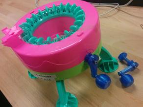 Motorizable replacement crank for circular knitting machine