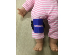 Hinkley's extravagant doll knee brace