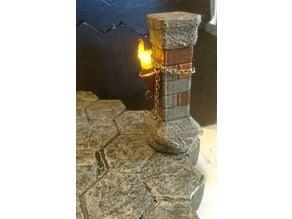 Gloomhaven Brick Column (hollow, room for LED-light)